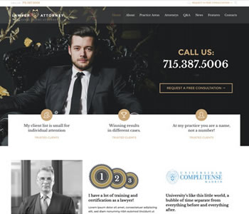 lawyer website theme
