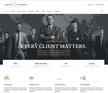 attorney website template