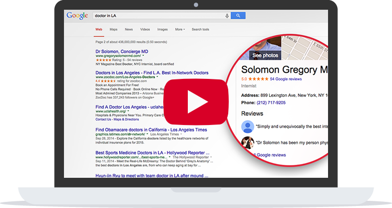 laptop showing serp results