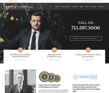lawyer website theme